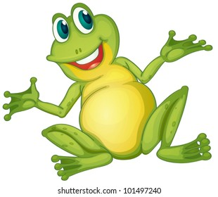 Illustration of a frog cartoon character