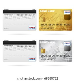 illustration of front and back of credit cards