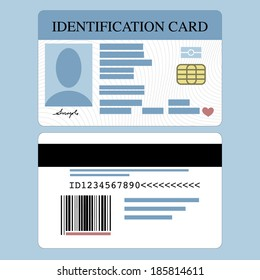 Illustration of front and back id card