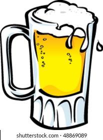Illustration of frosty mug of beer.