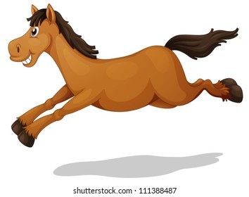 Illustration of a funny horse