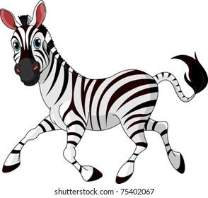 Illustration of Funny running  Zebra