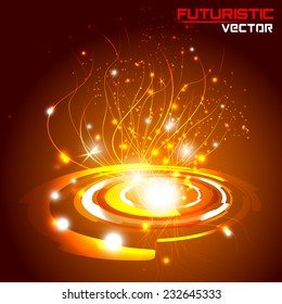 illustration of Futuristic interface background HUD,  vector