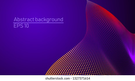 Illustration of futuristic vector background. Science or Technology concept. Vectorized 3d shape alike on 3d landscape. Template for design flayer, poster, banner, brochure and other.