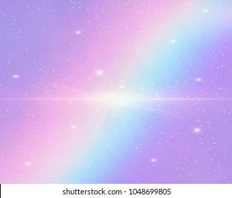 illustration galaxy holographic fantasy rainbow 260nw 1048699805