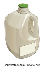 Illustration of a gallon jug used as a container for milk and other liquids