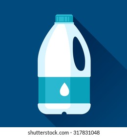 Illustration with gallon of milk in flat design style.