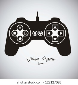 illustration of game controls, Video games Silhouettes, vector illustration