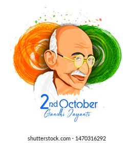 illustration of Gandhi Jayanti background.2nd October
