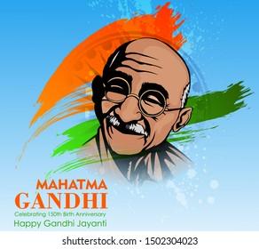 illustration for gandhi jayanti,2nd october . national holiday for happy gandhi jayanti