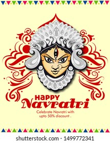 Illustration Of Garba Festival with couple dancing , Navratri Celebration,Gujarati Dandiya Night Poster Or Banner Design,Easy To Edit.