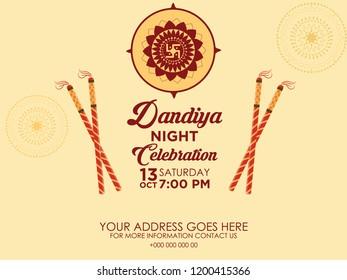 Imágenes Fotos De Stock Y Vectores Sobre Dandiya Cards