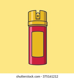 illustration of a gas canister