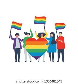 illustration of a gay pride community Lgbtq