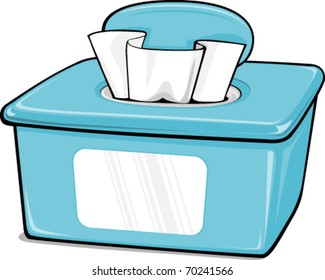 Illustration of a Generic Box of Wipes
