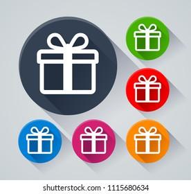 illustration gift icon on white background のベクター画像素材