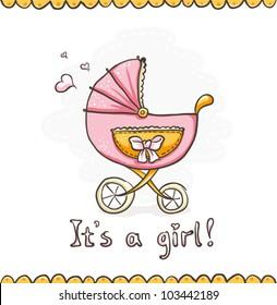 Illustration It's a girl
