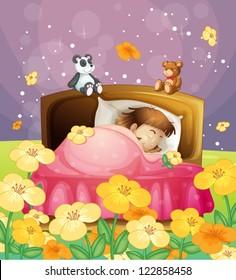 Bett Schlafen Wiese Stock Illustrations Images Vectors Shutterstock