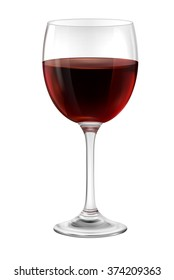Illustration of  glass of red wine, EPS 10 contains transparency.