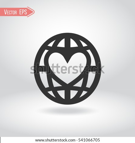 Illustration Globe Heart Logo Nonprofit Organization Stock Vector