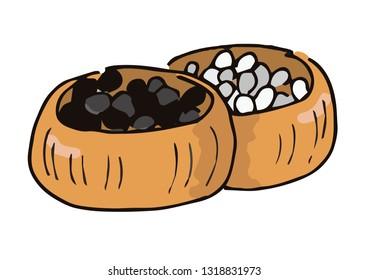 Illustration of go stones