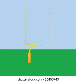 Illustration of a goal post used in American football