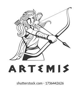 illustration of the goddess Artemis