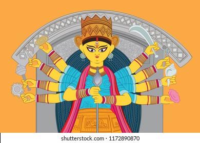 Illustration of Goddess Durga