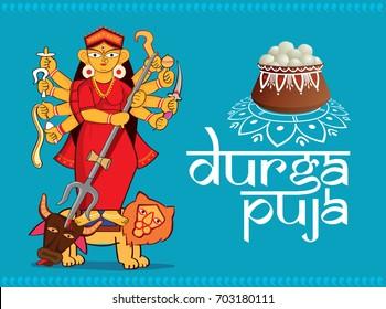 illustration of Goddess durga, Happy dussehra