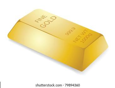 illustration of gold bar, for financial concept.