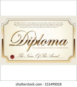 Illustration of gold certificate
