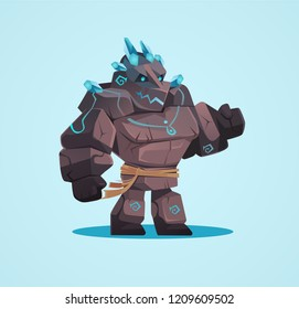 Illustration of the Golem character for casual game
