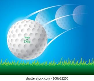 illustration of golf ball