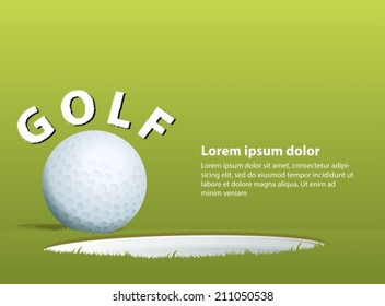 Illustration of a golf ball