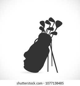 Illustration of golf clubs isolated on a white background.