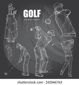 illustration of Golf. Hand drawn.