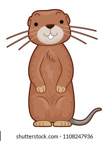 Illustration of a Gopher Standing Up