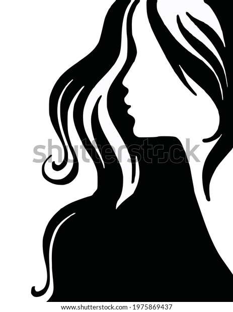 Illustration of a gorgeous looking woman.