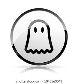 Illustration of gost icon on white background