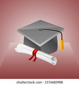 illustration of graduation vector isolated design.