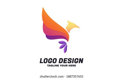 Illustration of graphic Abstract bird phoenix logo design template