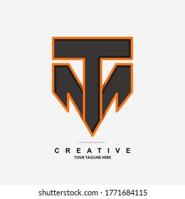 Illustration of graphic letter initial m t design illustration vector template