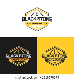 Illustration graphic vector of logo design template for Asphalt repair, repair street, concrete company