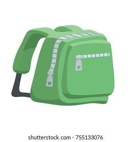 illustration of green backpack