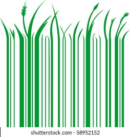 illustration of a green barcode