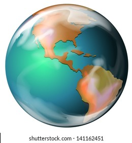 Illustration of a green earth