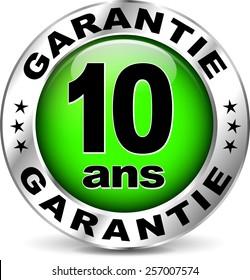 illustration of green warranty icon ( french translation )