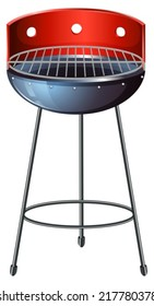 Illustration of a grilling device on a white background