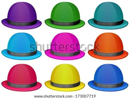a5402511fd26b Illustration Group Colorful Hats On White Stock Vector (Royalty Free ...