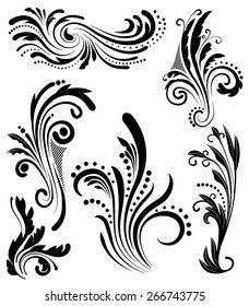 An Illustration of a group of floral lines